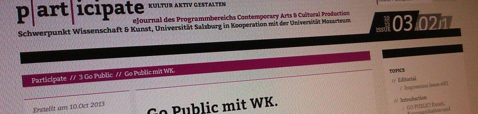 Go Public mit WK.