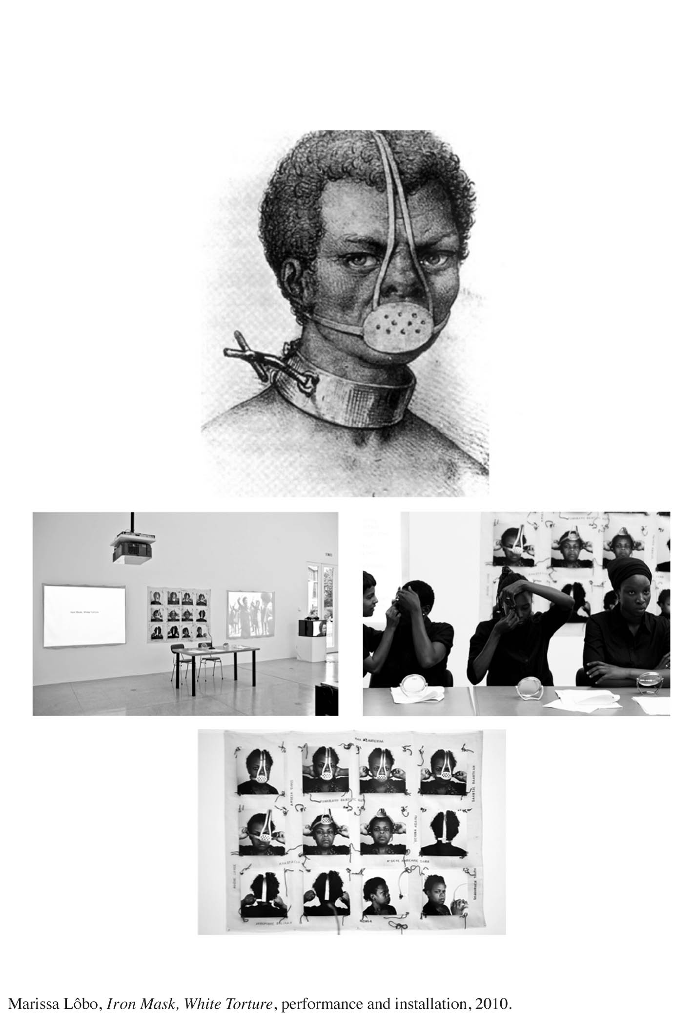 1Iron Mask, White Torture, performance and installation, conceived by Marissa Lôbo (1)