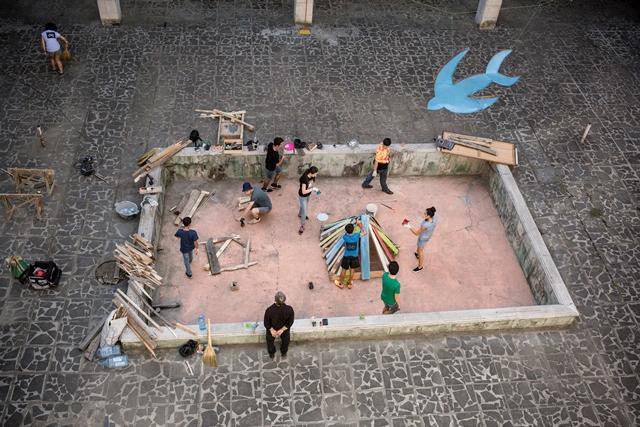 Skulptur-Workshop im Vorfeld des Tskaltubo Art Festival, Tskaltubo (GEO), 2015. Foto: Natela Grigalashvili
