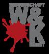 Das Bild zeigt das Logo des Schwerpunkts Wissenschaft & Kunst, das aus einem Farbklecks und dem Namen besteht