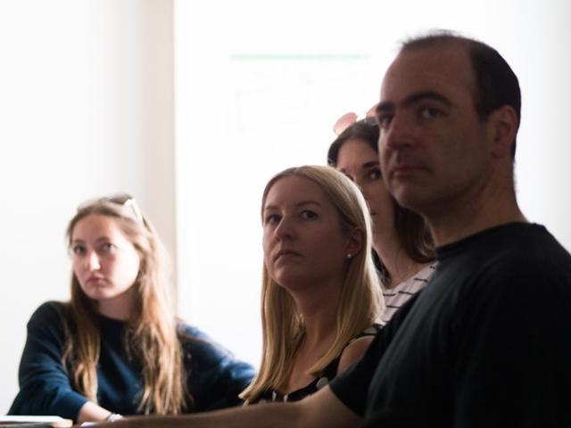Teilnehmer des Workshops mit Ulrike Laabs