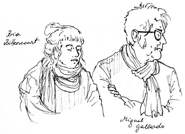 Das Bild zeigt eine Zeichnung von Bettina Egger von Bia Buttencourt und Miguel Gallardo