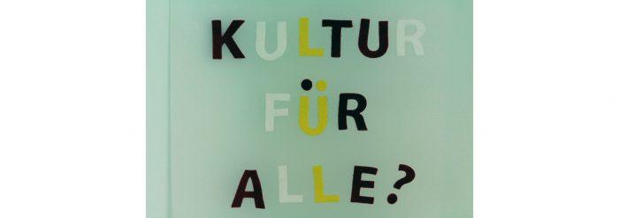 Großbuchstaben Kultur für alle?