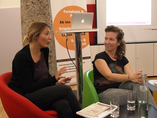 Sarah Bäcker und Elisabeth Schmirl