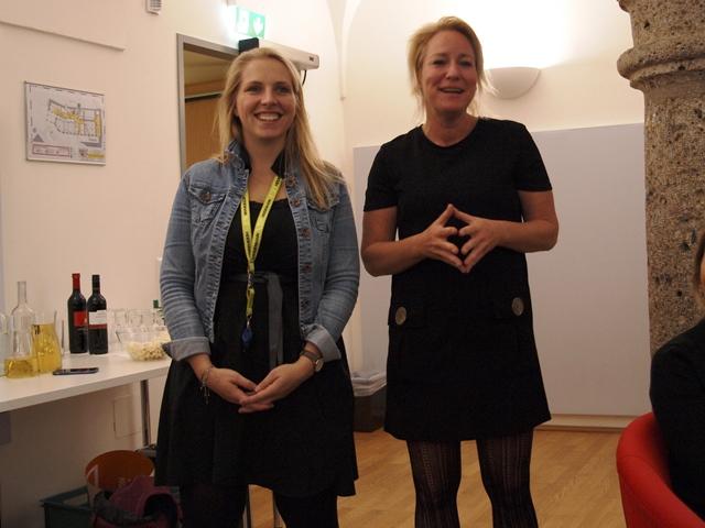 Siglinde Lang (Leitung P-ART Akademie) und Theresa Edtstadler (akzente)