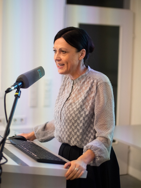 Swetlana Heger sprach zum Thema Re-Modeling Art