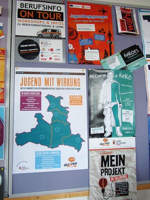 Plakatwand bei akzente Salzburg