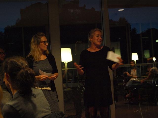 Siglinde Lang, Leiterin P-ART Akademie, und Mirjam Winter, Radiofabrik, sprachen einleitende Worte.