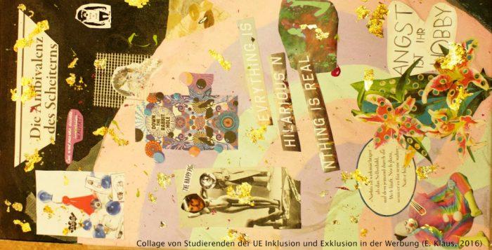 Collage aus verschiedenen Bildern. Oben steht die Ambivalenz des Scheiterns.