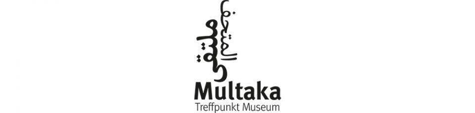 logo multaka treffpunkt museum mit arabischem schriftzeichen