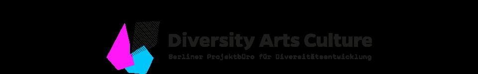 logo diversity arts culture berliner projektbüro für diversitätsentwicklung mit bunten geometrischen figuren