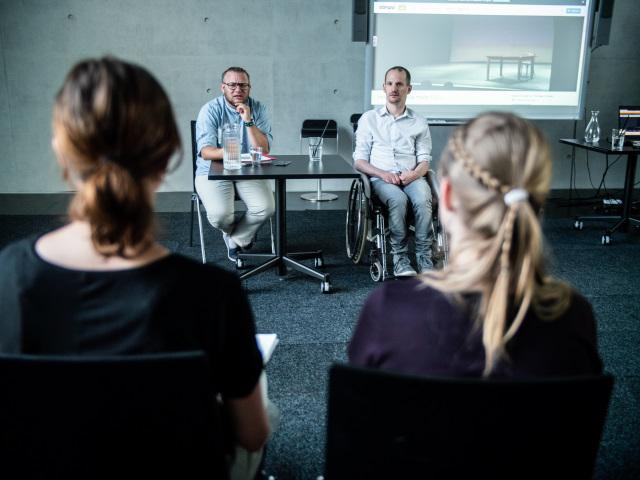 Persson Perry Baumgartinger (li.) und Michael Turinsky