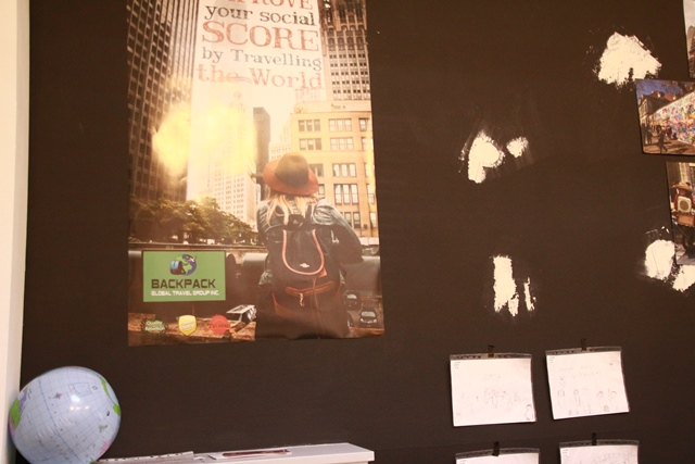 Auch die Plakate wurden von einem Studierenden selbst gestaltet.