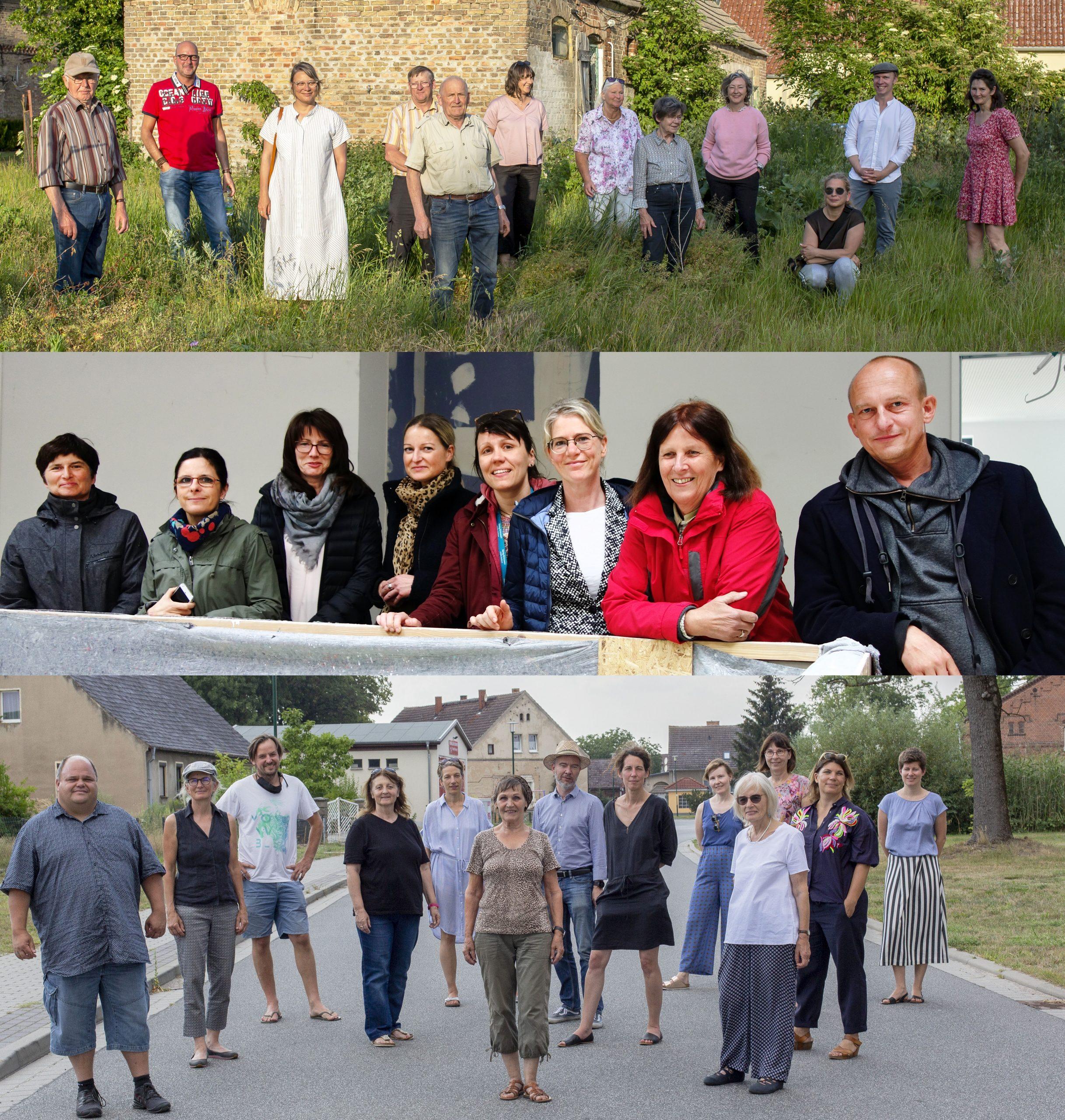 collage aus drei bildern mit je einer gruppe menschen