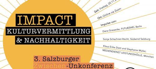 flyer impact kulturvermittlung und nachhaltigkeit